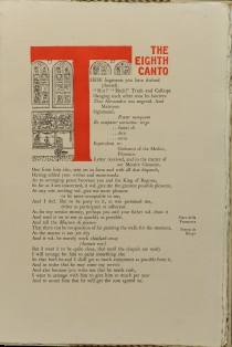 Ezra Pound, The eighth cantos, 1925, volume s stampa. Biblioteca Malatestiana, Cesena